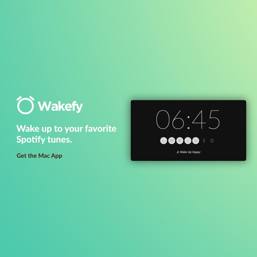 Wakefy - Turn your Mac into a Spotify alarm clock